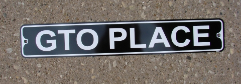 GTO Place Street Sign