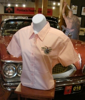Ladies Short Sleeve POMARC Dress Shirt in Pink