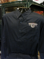 Men's Long Sleeve POMARC Dress Shirt in Navy