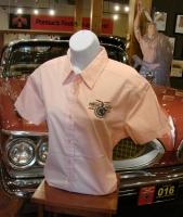 Ladies Short Sleeve POMARC Dress Shirt in Pink