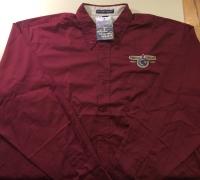 Men's Long Sleeve POMARC Dress Shirt in Burgundy