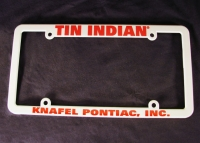 Tin Indian License Plate Frame