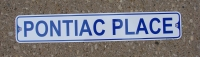 Pontiac Place Street Sign